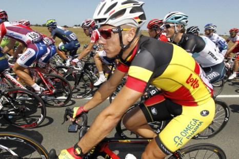 Фоторепортаж c первого этапа велогонки Tour de France. Фото:  NATHALIE MAGNIEZ/AFP/Getty Images