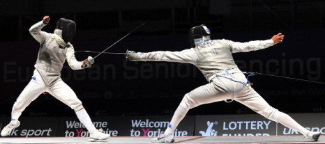 Гаврилова и Черемисинов завоевали бронзу на чемпионате Европы по фехтованию. Фоторепортаж из Шеффилда. Фото: ANDREW YATES/AFP/Getty Images
