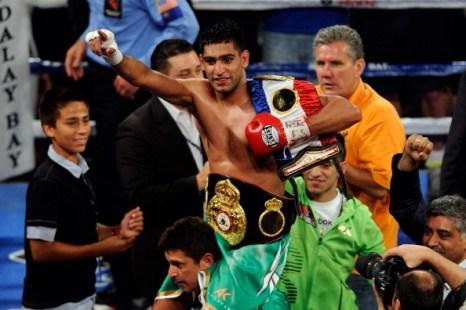 Амир Хан победил нокаутом Заба Джуду. Фото: Scott Heavey/Getty Images