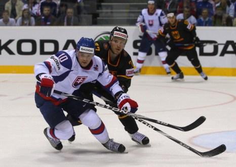 Фоторепортаж. Сборная Германии выиграла у команды Словакии со счетом 4:3