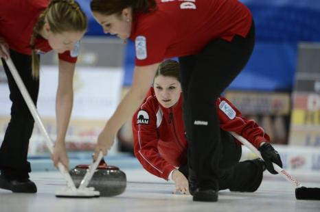 Лене Нильсен из Дании во время полуфинального матча Россия-Швеция 14 декабря 2012 года. Фото: JANERIK HENRIKSSON / SCANPIX/AFP/Getty Images