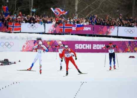 Скиатлон. На финише гонки. Фото: Richard Heathcote/Getty Images
