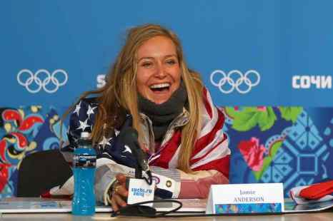 «Золото» в соревнованиях по слоупстайлу завоевала американская сноубордистка Джейми Андерсон. Фото: Mike Ehrmann/Getty Images