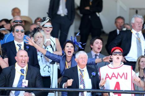 Конные скачки прошли 1 ноября 2013 года на арене Флемингтон в День дерби. Это один из трёх главных дней карнавала Кубка Мельбурна в Австралии. Фото: Mark Metcalfe/Getty Images for the VRC