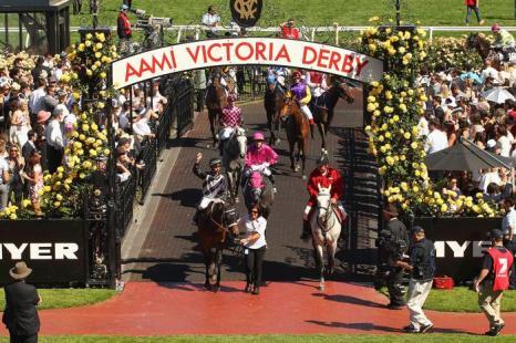 Конные скачки прошли 1 ноября 2013 года на арене Флемингтон в День дерби. Это один из трёх главных дней карнавала Кубка Мельбурна в Австралии. Фото: Quinn Rooney / Getty Images