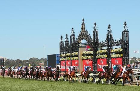 В Австралии 4 октября 2013 года прошёл второй день скачек Кубка Мельбурна за главный трофей мероприятия. Фото: Quinn Rooney / Getty Images
