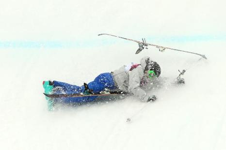Томичка Анна Миртова на квалификации Олимпийских игр по ски-слоупстайлу в Сочи 11 февраля 2014 года. Фото: Mike Ehrmann/Getty Images