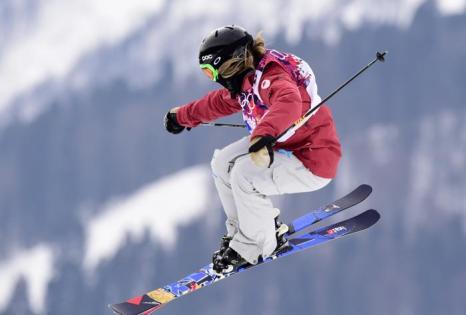 Кая Турски из Канады на квалификации Олимпийских игр по ски-слоупстайлу в Сочи 11 февраля 2014 года. Фото: JAVIER SORIANO/AFP/Getty Images