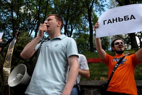 Молодежные организации провели акцию протеста, критикуя правление президента Виктора Януковича. Фото: Владимир Бородин/Великая Эпоха (The Epoch Times)