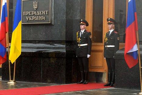 Официальная церемония встречи Президента Российской Федерации Дмитрия Медведева в Киеве 17 мая. Фото: Владимир Бородин/The Epoch Times