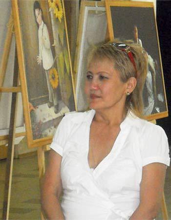 Арашаева Светлана  Бадмаевна, одна из организаторов выставки в Элисте. Фото: Великая Эпоха