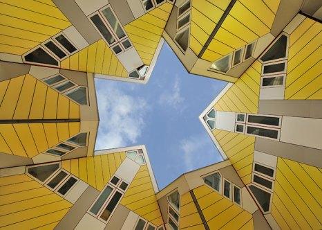 Кубические дома, Роттердам, Нидерланды. Фото: Heush/commons.wikimedia.org