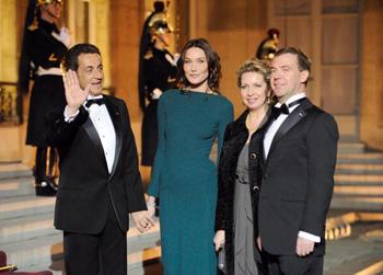 Визит Медведева во Францию.Фото: ERIC FEFERBERG/AFP/Getty Images