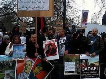 Антиправительственная акция в Ливии. Фото Jacqueline Head с aljazeera.net