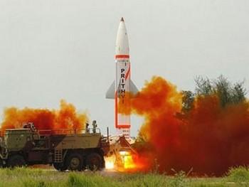 Пуск ракеты Prithvi. Фото с frontierindia.net