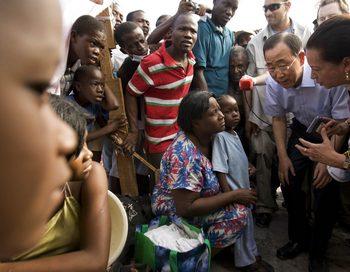 Пан Ги Мун: Я призывают народ Гаити проявить терпение. Фото: Logan Abassi/MINUSTAH via Getty Images