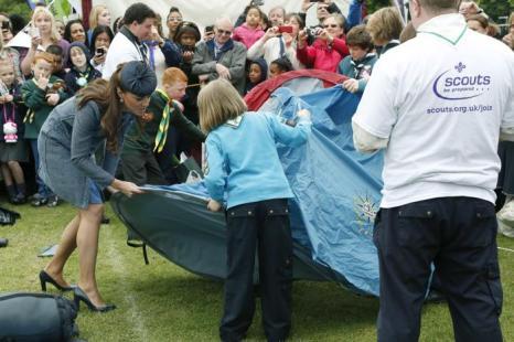 Екатерина в парке Вернон на мероприятии Бриллиантового юбилея в Ноттингеме. Фоторепортаж. Фото:  Phil Noble - WPA Pool/Getty Images