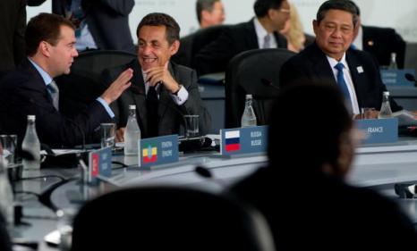 Саммит G20 в Торонто завершился принятием итоговой декларации. Фоторепортаж. Фото: JIM YOUNG/AFP/Getty Images