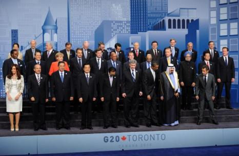 Саммит G20 в Торонто завершился принятием итоговой декларации. Фоторепортаж. Фото: ERIC FEFERBERG/AFP/Getty Images
