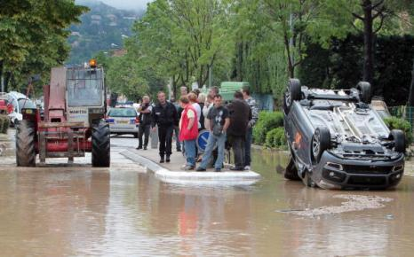 Наводнение на юге Франции. Фоторепортаж. Фото: STEPHANE DANNA/AFP/Getty Images
