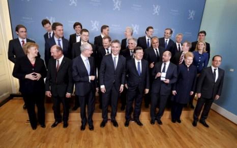 Европейский союз награждён Нобелевской премией мира. Фото: ASERUD, LISE/AFP/Getty Images