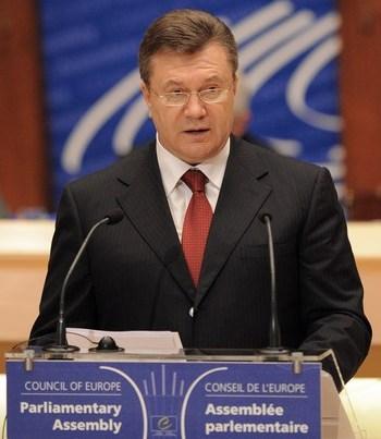 Виктор Янукович выступил в Страсбурге. Фото: FREDERICK FLORIN/AFP/Getty Images