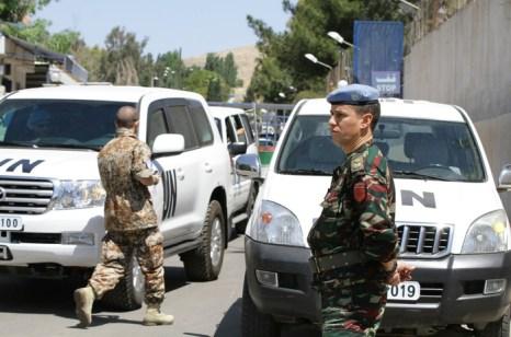 Конвой миссии наблюдателей ООН в Сирии. Фото: LOUAI BESHARA/AFP/GettyImages