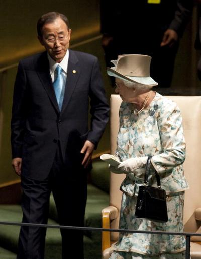 Королева Елизавета II выступила в  Генеральной ассамблее  ООН. Фоторепортаж. Фото: Mario Tama/Getty Images