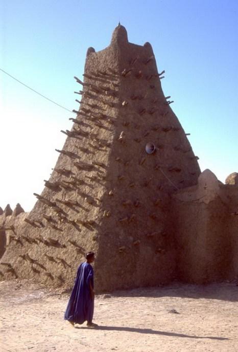 Памятники Всемирного культурного наследия ЮНЕСКО в городе Тимбукту, Мали. Фото: EVAN SCHNEIDER/AFP/GettyImages