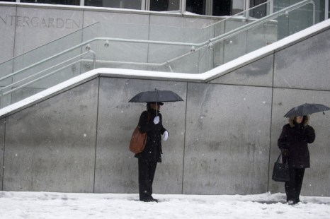 Снежный шторм со Среднего Запада США движется к Нью-Йорку. Фоторепортаж. Фото: Jeff Swensen, Andrew Burton/Getty Images