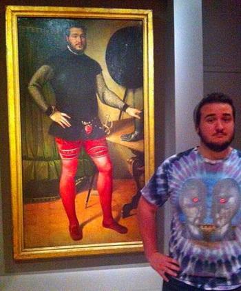 Сюрприз в музее: студент нашёл своего двойника, возраст которого 450 лет. Фото с сайта blick.ch