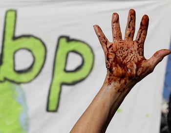British Petroleum обвиняется в экологической катастрофе. Фото: Justin Sullivan/Getty Images