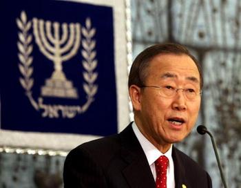 Генеральный секретарь ООН Пан Ги Мун во время визита на Ближний Восток. Фото: GALI TIBBON/AFP/Getty Images