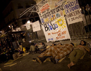 В Испании проходят акции «возмущённых» испанцев. Фото: Pablo Blazgues/Getty Images News
