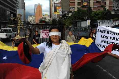 Венесуэла. Выступления студентов. Фото: JUAN BARRETO/AFP/Getty Images