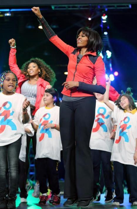 Мишель Обама провела компанию по продвижению физической активности в школах. Фото:  Tasos Katopodis/Getty Images