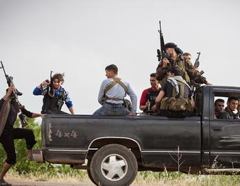 Члены Свободной сирийской армии, Сирия. Фото: STR/AFP/GettyImages