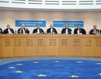 В Европейском суде по правам человека, Страсбург, Франция. Фото: FREDERICK FLORIN/AFP/Getty Images