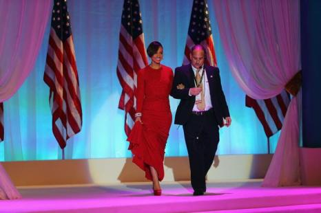 Певица Алиша Киз (Alicia Keys) прибыла на инаугурационный бал в Вашингтоне, 22 января 2013 года. Фото: Фото: Joe Raedle / Getty Images