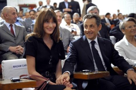 Николя Саркози, президент Франции, и Карла Бруни-Саркози, 4 декабря, Бангалор, Индия. Фото: Pascal Le Segretain/Getty Images