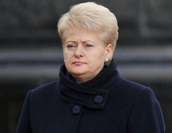 Президент Литвы Даля Грибаускайте. Фото РИА Новости