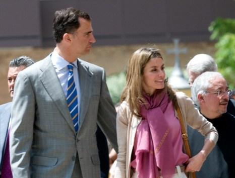Фоторепортаж о посещении принцем Испании Филипе и принцессой Летицией аббатства в Монсеррат. Фото: Robert Marquardt/Getty Images