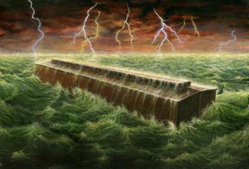 Рисунок Ричарда Брайтона, сделанный по воспоминаниям тех, кто видел ковчег. Фото:  forum.od.ua