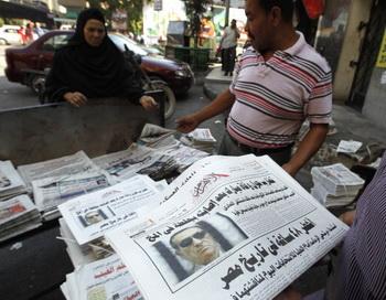 Врачи зафиксировали клиническую смерть Мубарака - в сообщениях СМИ.Фото:  MOHAMMED ABED/AFP/GettyImages