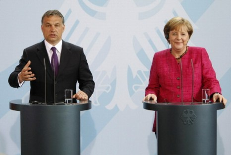 Фоторепортаж о встрече канцлера Германии Ангелы Меркель с премьер-министром Венгрии Виктора Орбана. Фото: Carsten Koall/Getty Images