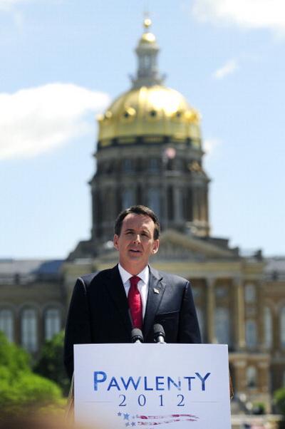Фоторепортаж о новом кандидате в президенты США, бывшем губернаторе Миннесоты Тиме Поленти. Фото: Steve Pope/Getty Images