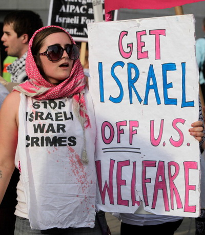 Фоторепортаж о демонстрации протеста против выступления президента США Барака Обамы на AIPAC. Фото: Alex Wong/Getty Images