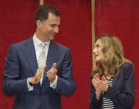 Фоторепортаж о посещении церемонии вручения наград принцем Испании Фелипе и принцессой  Летицией. Фото: Quinn Rooney/Getty Images