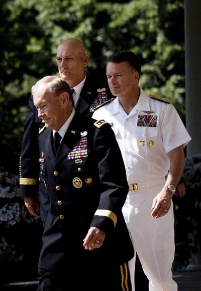 Фоторепортаж о новом назначении на пост начальника штаба армии президентом США Баракой Обамой. Фото: AFP PHOTO/Brendan SMIALOWSKI