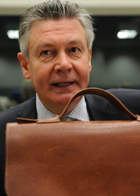 Коммисар по вопросам торговли ЕС Карел де Гюхт. Фото: JOHN THYS/AFP/Getty Images